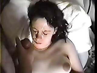 Big tits girl facial