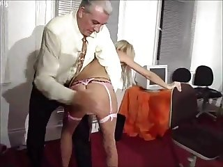 British Blonde Antonia Deona spanked