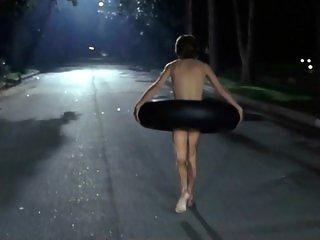 Girl Next Door: naked in public revenge prank