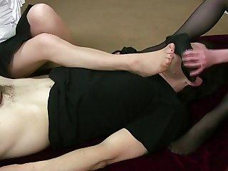 sniff foot Handjob 2