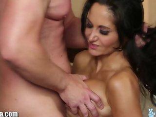 TrickySpa Huge Tits, Ava Addams Gagging BJ