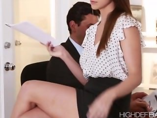 Super hot secretary Brooklyns pussy gets fucked hard