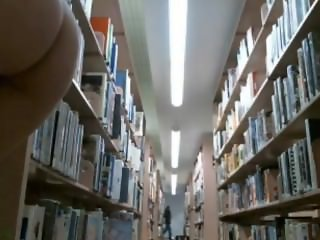 Camgirl caught nude in busy library