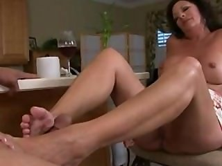 Mature Margo footjob