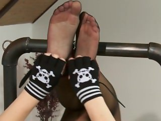 Czech Tickling Jane Feet in Nylon