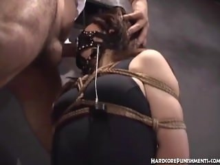 Japanese women tied in rope and messed with