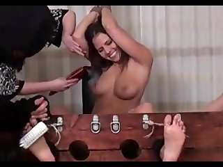 Cali Logan Topless and Tickled