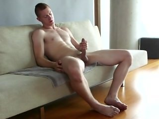 Long lasting slow jack off session with a tall lanky young man