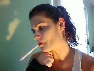 Belisama smoking cigarette.