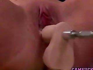 Fucking Machine Creaming Orgasm