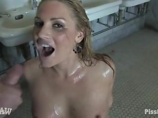 Flower Tucci drinking piss FULL SCENE. She's so hott !!!