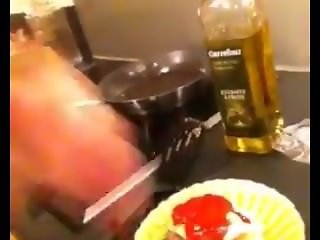 French Girl Gives Messy Handjob To Ketchup Bottle