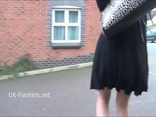 Blonde DeeDees flashing and outdoor masturbation of exhibitionist milf