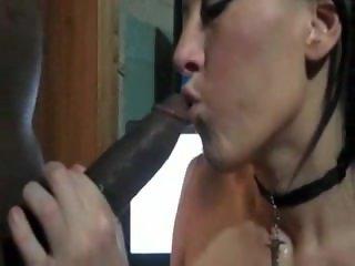 Brunette Skank Swallows BBC Load