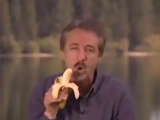 Man Plays With Banana and Gets Contents Squit in His Face