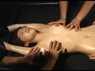 Japanese girl oiled
