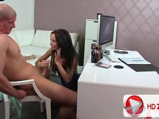Babe Teen Girl At Job Interview HD