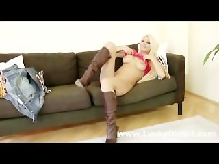 Older british guy fucks blonde in boots