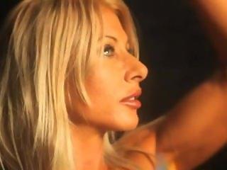 blonde muscle posing