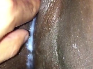 Clit pump and creampie fingering