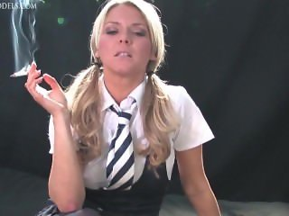Skye smoking 7 schoolgirl