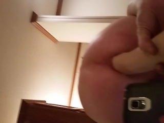 Huge rubber fist gapes my ass