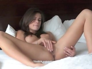 Incredible glamour rubbing shaved pussy