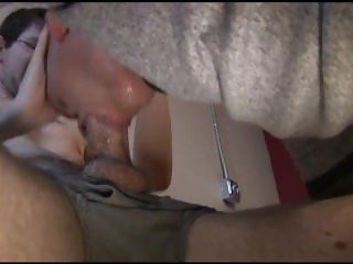Aggressive skull fuck. Intense deepthroat blowjob