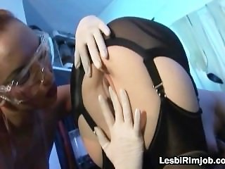 Slutty lesbo spreading wide and gets part5
