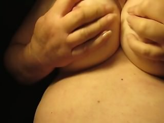 Playing with my tits and Big Nipples