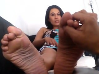 Mature Latina MILF Feet Foot Fetish Tickled