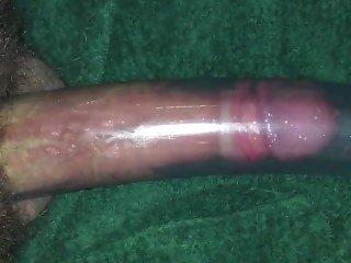 Vacuum cleaner Sucking my foreskincock