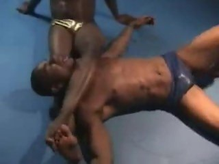 blk dude wrestling