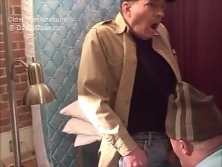 Old Grandpa Getting HIs Cock Sucked by Shy Grandpa