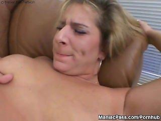 Nasty chunky lesbians dildoing