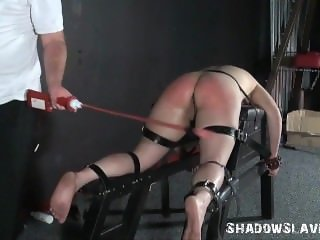 Cattleprod electro bdsm and hardcore amateur bondage of tortured slaveslut