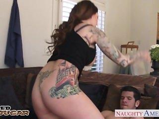 Horny tattooed cougar Darling Danika fucking