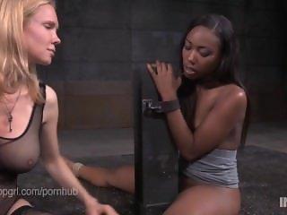 Lezdom Rain DeGrey Captures Ebony Reporter Chanell Heart