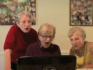 Grannys watch sex video - very funny