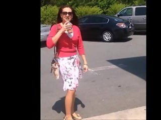 Redhead milf with great legs nice . Melodie from dates25.com