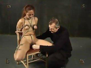 Extreme breast bondage BDSM