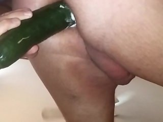 Cucumber in husbands ass 2