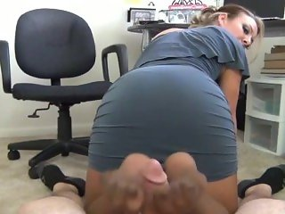 Secretary Pantyhose Footjob