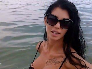 Maria Alexandrou - Striptease in the sea