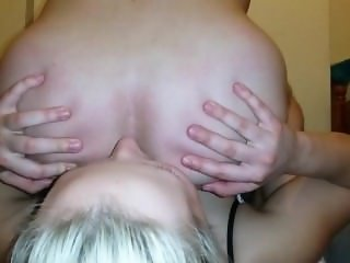 A Young Blond Girl Licking Asshole