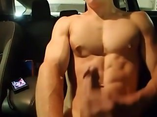 Cute College Lad Wanking In His Car