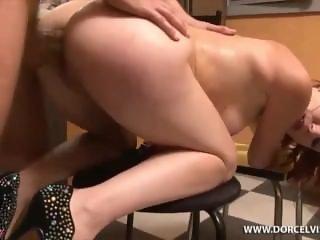 Petite redhead bitch deep anal fuck
