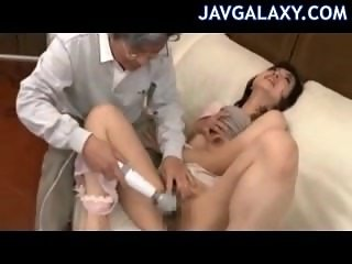 Young Japanese Girl and Old Pervert