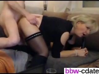 Affair from BBW-CDATE.COM - German blond BBW MILF in stockings and b