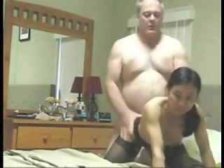Oliva from 1fuckdate.com - Grandpa fucks asian wife